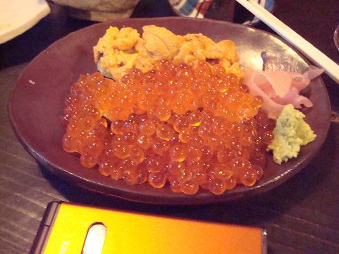 イクラとウニの寿司