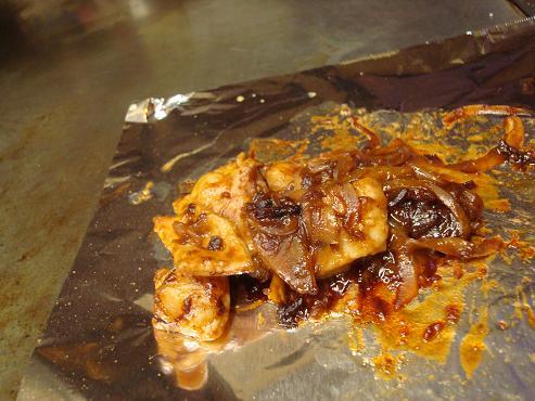 ホルモン味噌焼き
