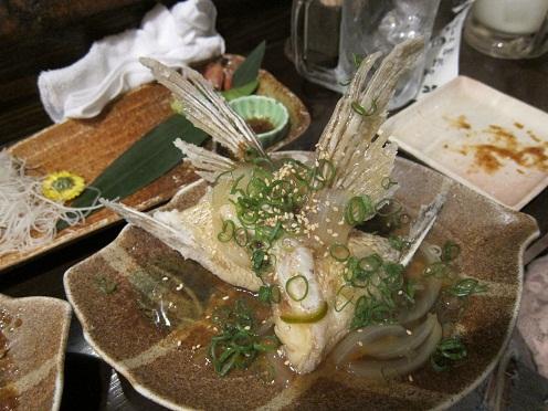 鯛かま野菜餡かけ