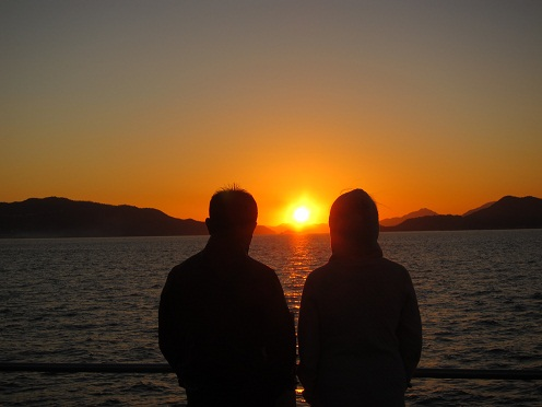 イメージ画像で実は日の入りw