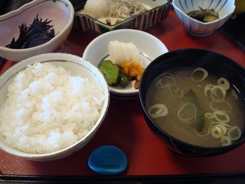 ご飯+味噌汁