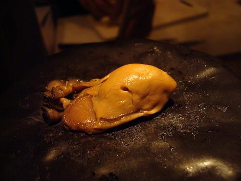 牡蠣の石焼き