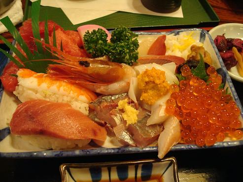 海鮮丼別盛り具大盛り